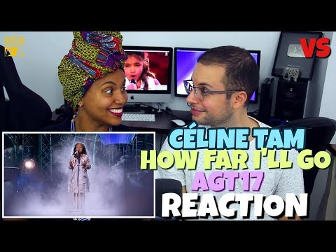 Celine Tam - How Far I'll Go | America's Got Talent 2017 | VS | REACTION