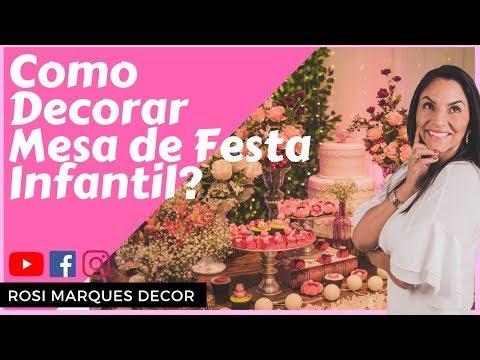 ❤ COMO FAZER UMA DECORAÇÃO DE MESA FESTA INFANTIL - Decoração de Sucesso