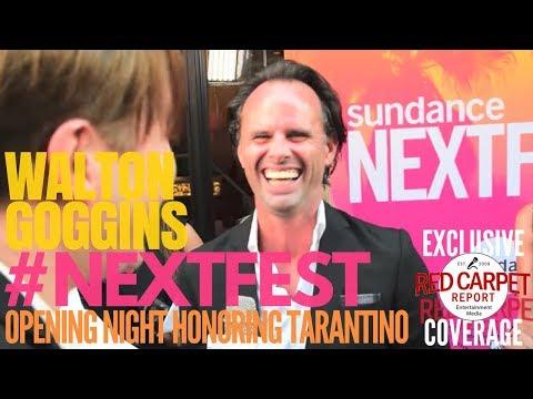 Walton Goggins interviewed at Sundance NEXT FEST opening night honoring Quintin Tarantino #NEXTFEST