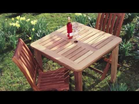 Hardwood outdoor dining tables, garden and patio tables and Picnic suites
