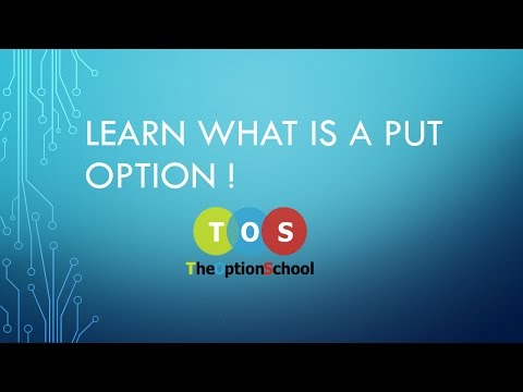Put Options and Call options in option trading for beginners.