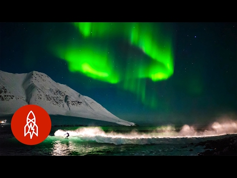 Surf Under Northern Lights