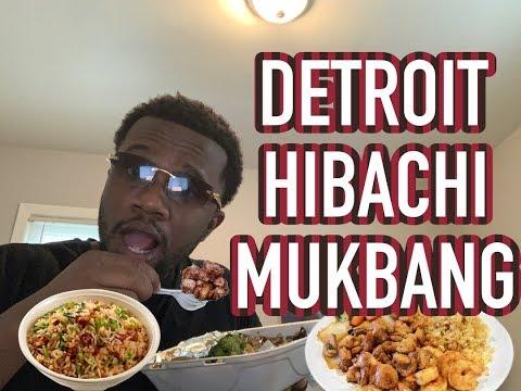 DETROIT HIBACHI MUKBANG!!