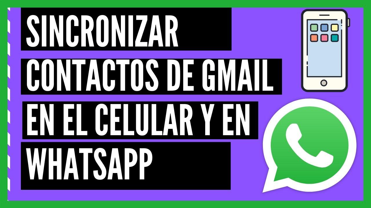 Sincronizar contactos de gmail al celular y a WhatsApp