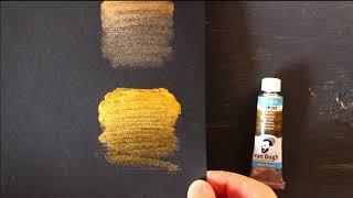 Обзор на Альбом для акварели Royal Talens Van Gogh (чёрная бумага)