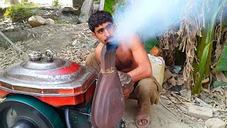 Starting The Diesel Engine | Tubewell System | Agriculture In Pakistan