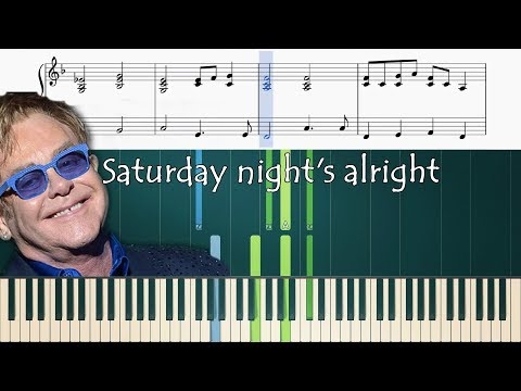 How To Play The Saturday Nights Alright Piano Part Youtube