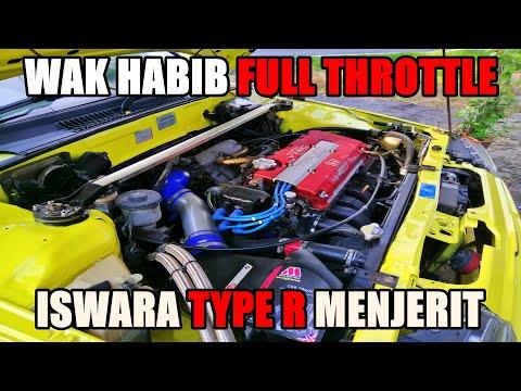 PADU BEB!! WAK HABIB FULL THROTTLE PROTON ISWARA B18C TYPE R EPISOD 2