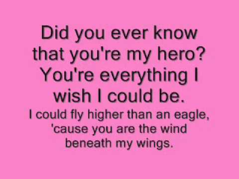 Wind beneath my wings with lyrics Mp3