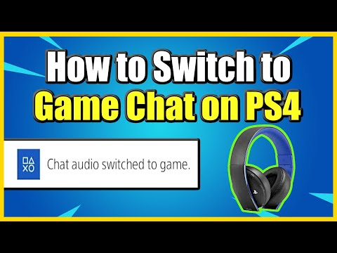 How to SWITCH to GAME CHAT on PS4 from Party! (Fast Method)