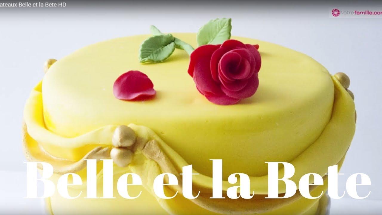Gateau La Belle Et La Bete Beauty And The Beast Disney Cake Youtube