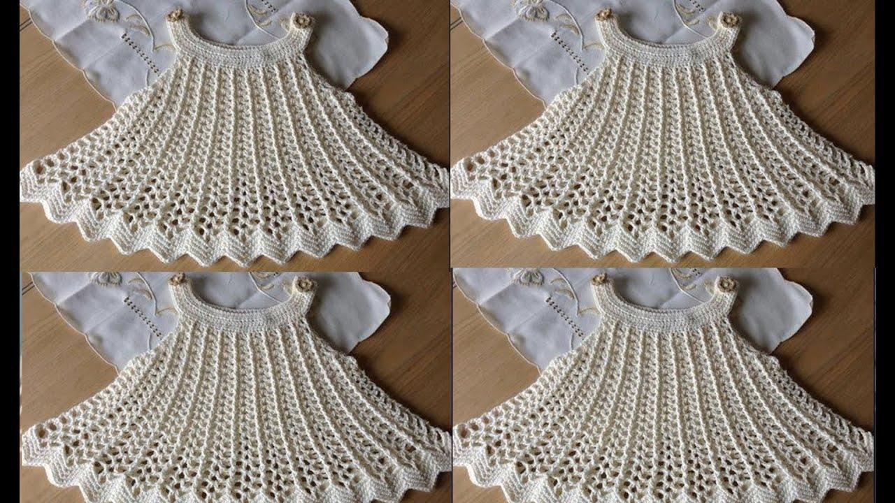 vestidos para ni as tejidos a crochet youtube. Black Bedroom Furniture Sets. Home Design Ideas