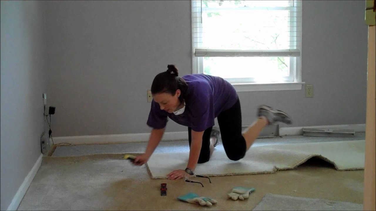 Single Ladies DIY Project  Carpet Removal  YouTube