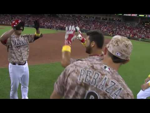 Eugenio Suarez after his walk-off hit in the Reds win