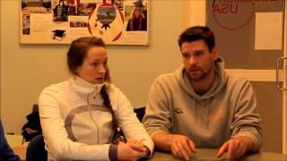 """Triin ja Martti Aljand infopäeval """"Sportlasena USA ülikoolis"""""""