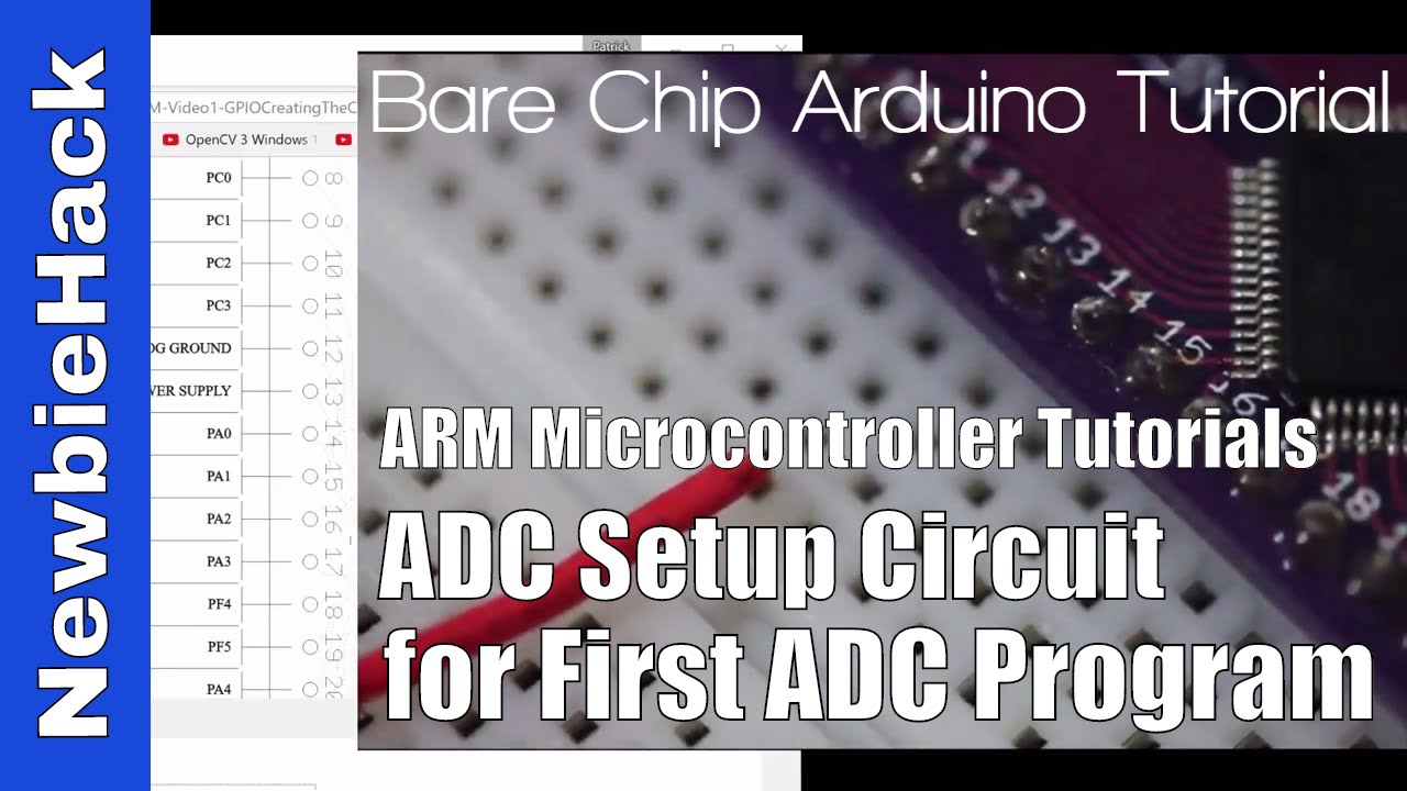 33  How to Setup ADC Circuit / Prep for 1st ADC Program - STM32 ARM  Microcontroller - Part 1