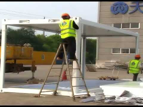 Movable flat pack container homes installation