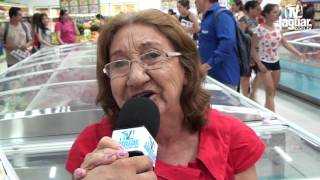 Dona Irene prestigiou a Inauguração do Supermercado Queiroz em Limoeiro do Norte