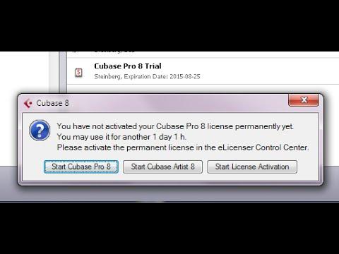 cubase activate trial license