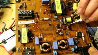 Ремонт телевизора LG 32LS570T нет дежурки после грозы - замена ШИМ