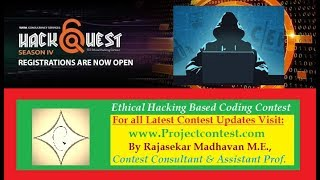 TCS Hackquest 4.0(2019) I Ethical Hacking Background and contest details I Projectcontest.com