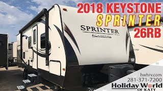 Take a look at some of the features of the 2018 Sprinter 26RB