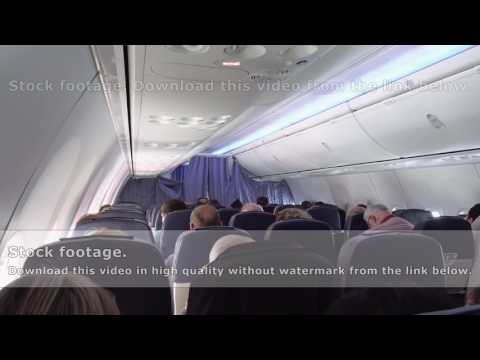 Passengers in airplane aircraft jet seats