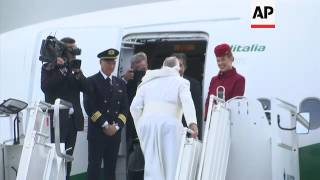 Pope departs Sweden