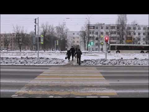 Новый светофор на улице Смоленской в Витебске