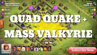 Best TH9 DARK ELIXIR FARMING BASE | 2016 | Anti (QUAD QUAKE + ALL COMBO) + REPLAY | Clash