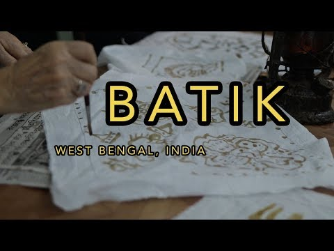 Batik - Wax Resist Dyeing in India