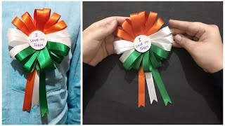 How To Make Tricolor Badge At Home | Independence/Republic Day Badge