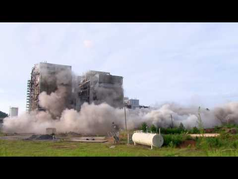 Cape Fear Plant Boiler Implosion