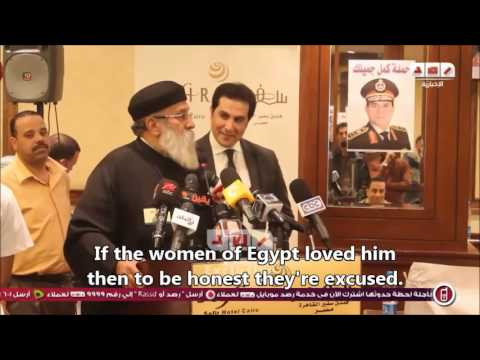"Priest at Sisi campaign: ""I am melting in his admiration"" [Eng Subs]"
