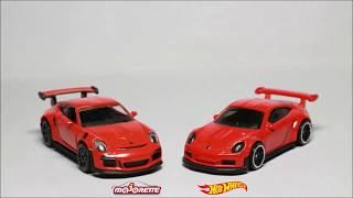 Majorette VS Hot Wheels Porsche 911 (991) GT3 RS Comparison