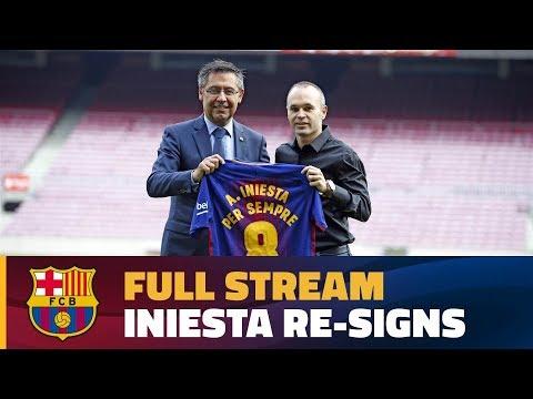 [FULL STREAM] Andrés Iniesta's contract renewal
