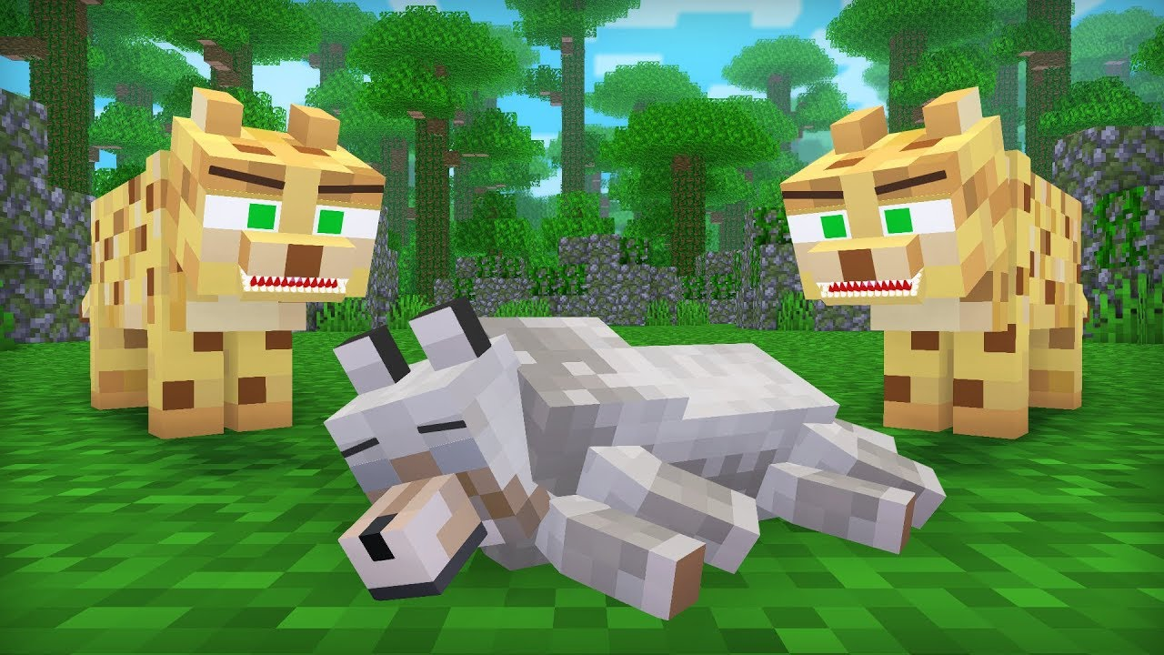 Ocelot & Wolf Life III – Minecraft Animation