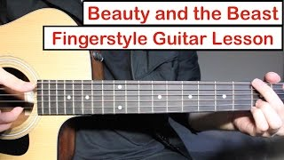 Baixar Beauty and the Beast | Fingerstyle Guitar Lesson (Tutorial) How to play Fingerstyle