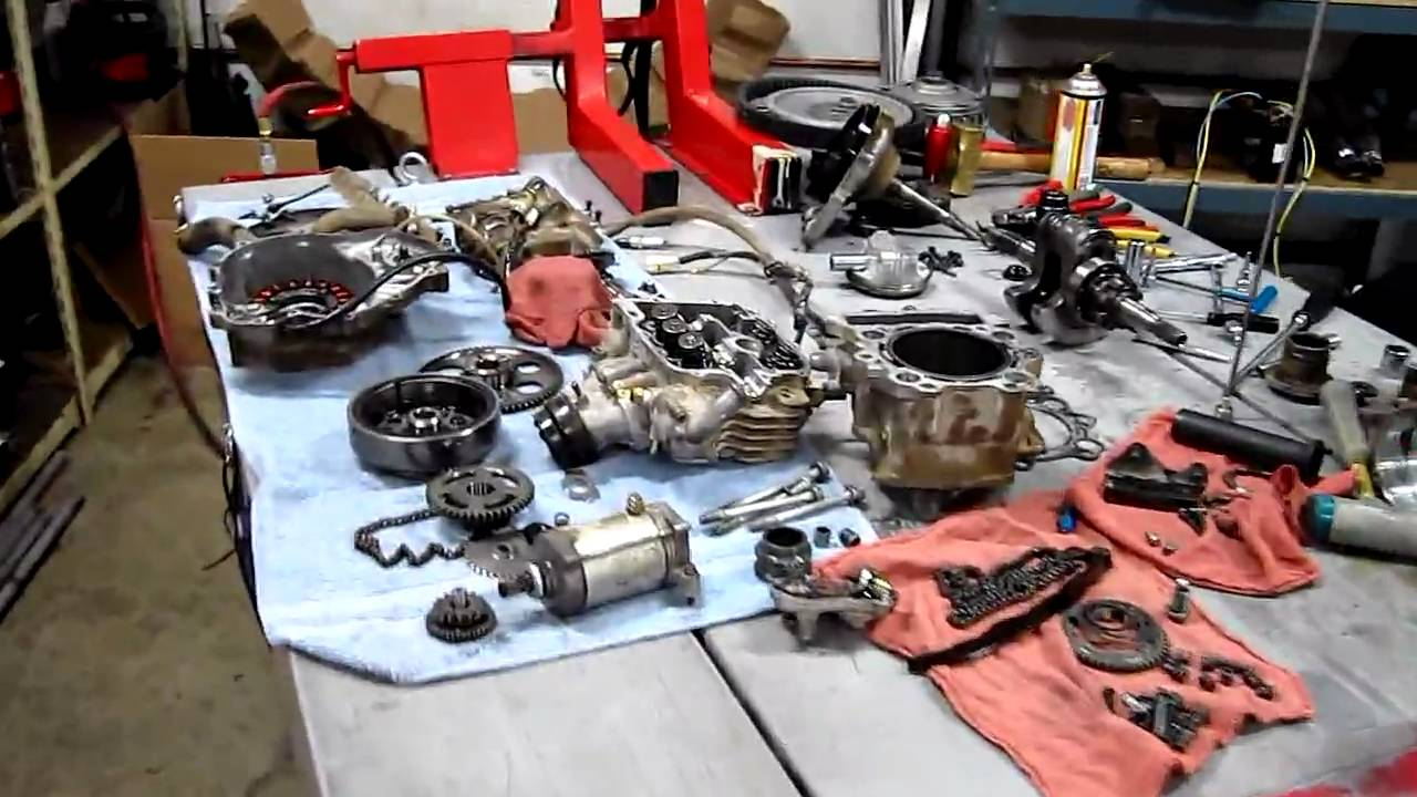 Yamaha 660 Rhino Engine In Pieces