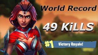 49 KILLS SOLO VS SQUAD WORLD RECORD - FORTNITE BATTLE ROYALE !!