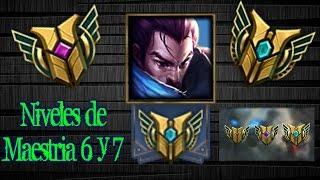 Como conseguir la maestría 6 y 7 | Niveles de Maestría 6 y 7 | League of Legends