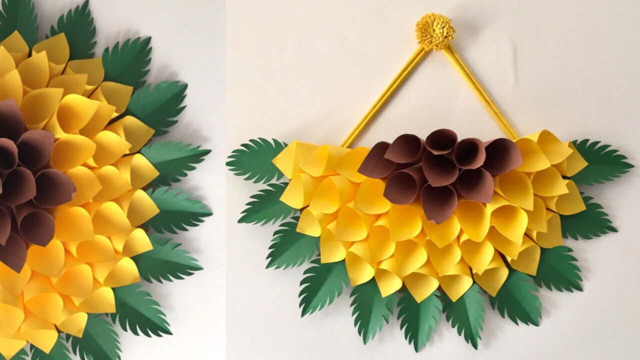 Paper Wall Hanging Diy Paper Sunflower Wall Hanging