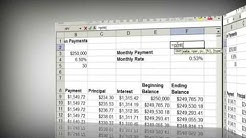Steps to make a Fixed Rate Loan Mortgage Calculator in Excel | e2020 | mortgage payment calculator