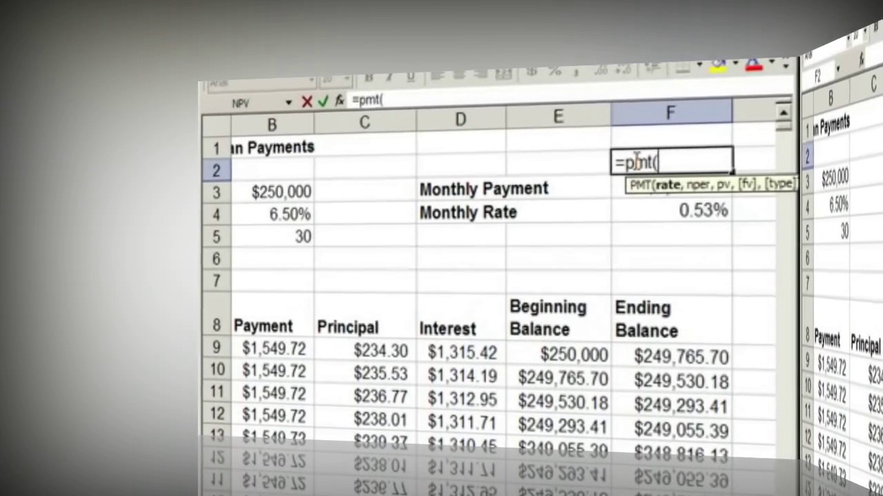 Steps to make a Fixed Rate Loan Mortgage Calculator in Excel | e2020 | mortgage payment ...