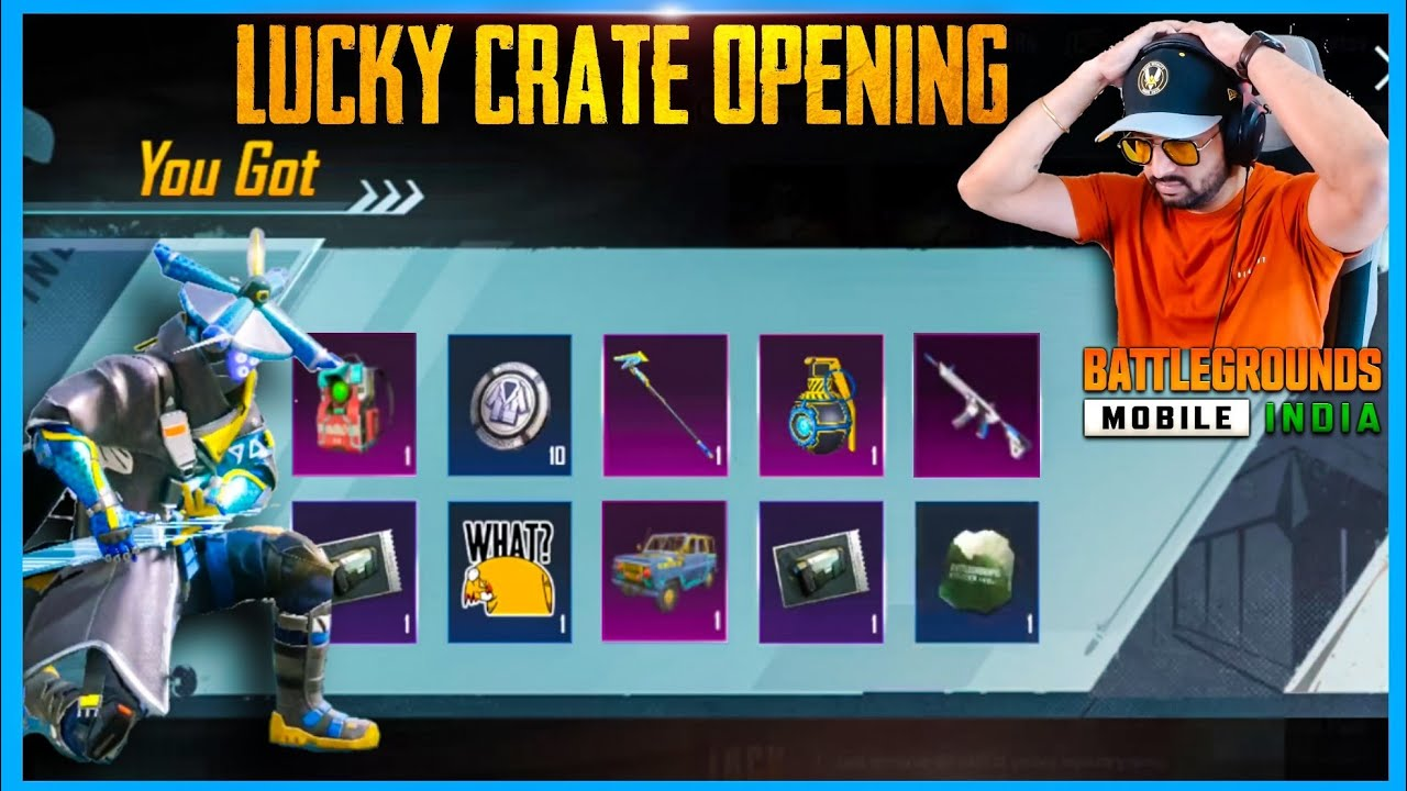 LUCKY CRATE OPENING USING MYTHPAT TRICK IN BATTLEGROUNDS MOBILE INDIA ( BGMI )