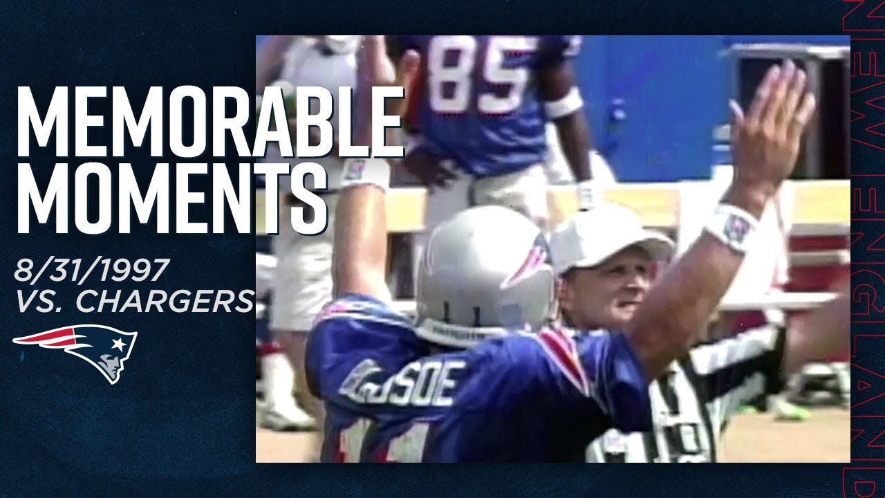 Drew Bledsoe's 4 TD Passes vs. Chargers! (8/31/1997) | Memorable Moments