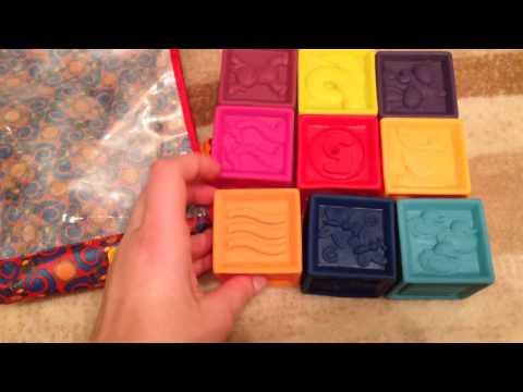 Резиновые кубики battat bdot One Two Squeeze