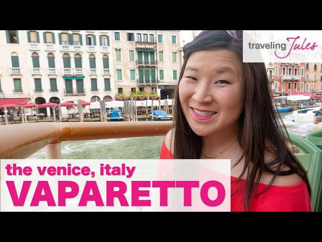 VENICE, ITALY: The Vaporetto