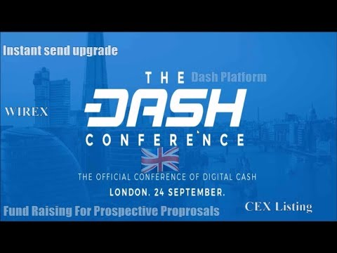 ✅1st Annual Dash Conference London Keynote 2017 in 10 Minutes, ICO Problem fix & the next BTC/ETH