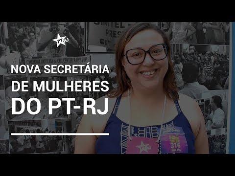 0 - Fabiana Santos é eleita a nova Secretária Estadual de Mulheres do PTRJ